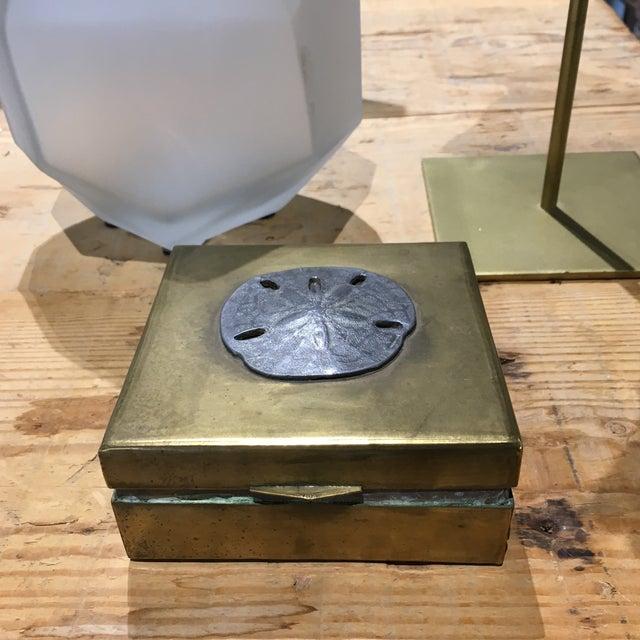 Vintage Brass Sand Dollar Box - Image 5 of 11