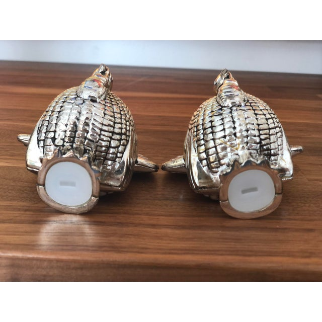 Late 20th Century Vintage Silver Turkey Salt & Pepper Shakers - a Pair For Sale - Image 5 of 7