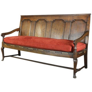 18th Century English Oak Settle For Sale