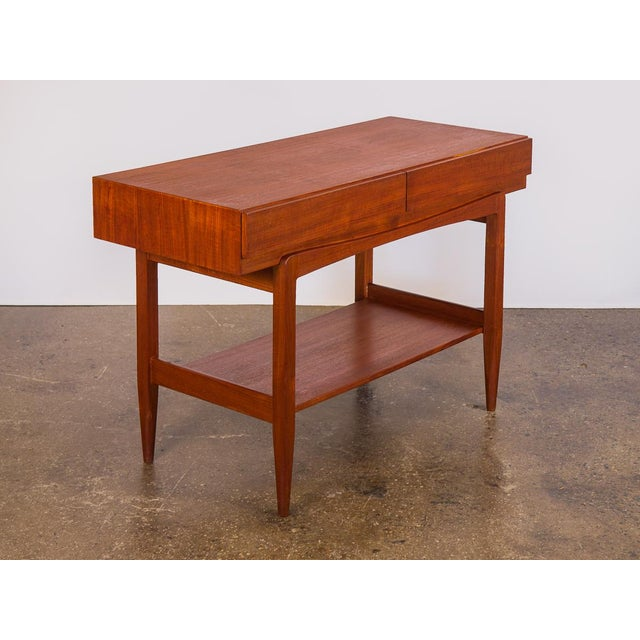 1960s IB Kofod Larsen Teak Console for Faarup Mobelfabrik. Highly functional and versatile. Beautiful floating console...