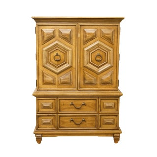 "Thomasville Furniture Italian Neoclassical Tuscan Style Madeira Collection 42"" Armoire For Sale"