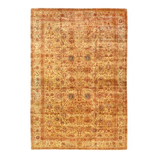 Pasargad Gold Color Fine Hand Knotted Agra Rug 12' X 18' For Sale