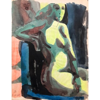 Mid-Century Modern Female Nude by James Bone For Sale