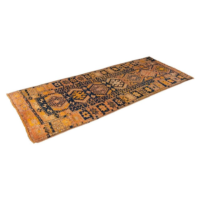 Mid 20th Century Vintage Yellow Turkish Runner Rug 3'x8' For Sale - Image 5 of 5