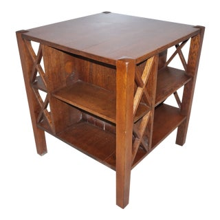 Antique Arts and Crafts j.m. Young Mission Book/ Table Cabinet For Sale