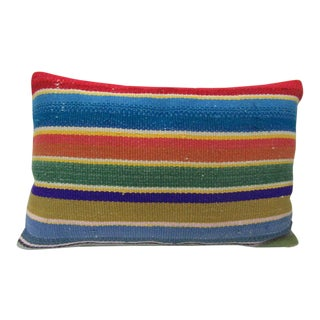 Striped Turkish Kilim Pillow For Sale
