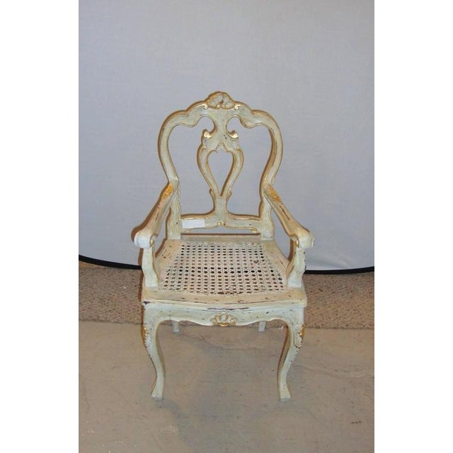 Louis XV Style Gilt Decorated Arm Chair - Image 2 of 9