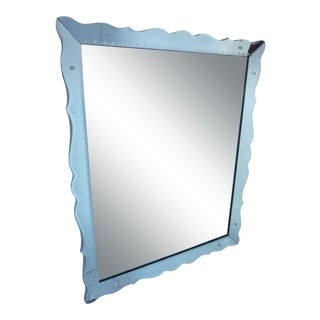 Vintage Mid-Century Deco Style Mirror For Sale