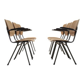 Dutch Design Industrial Plywood Chairs, 1960s For Sale