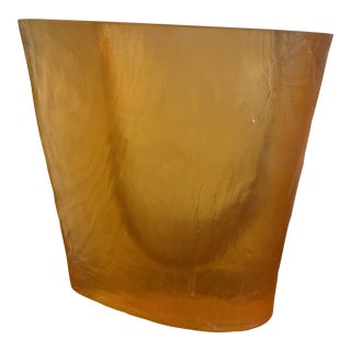 Vintage Orange Acrylic Vase by Terry Balle For Sale