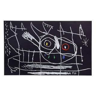 """Couple d'Oiseaux III From Indelible Miro"" Joan Miro Offset Lithograph For Sale"