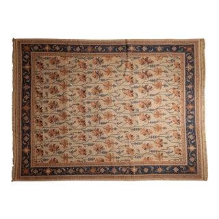 "Vintage Serapi Indian Soumac Design Carpet - 9'2"" X 12' For Sale"