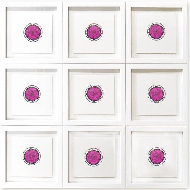 Wood Natasha Mistry Minimalist Geometric Ink Drawings - Set of 9 For Sale - Image 7 of 9