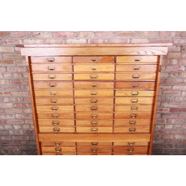 Early 20th Century Antique Oak 57-Drawer Cabinet, Circa 1920s For Sale - Image 5 of 13