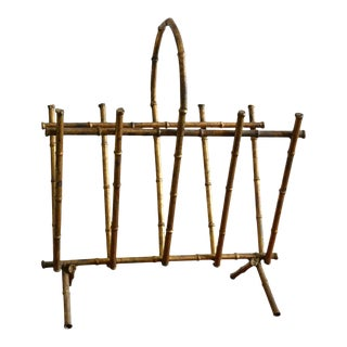 Vintage Gilt Magazine Rack For Sale