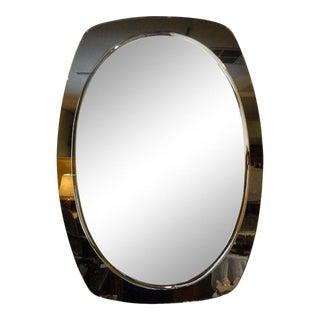 Vintage Italian Fontana Arte Inspired Beveled Mirror For Sale