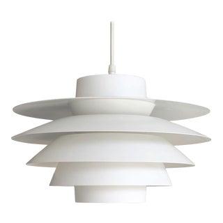 1962 'Verona' White Aluminum Pendant by Sven Middleboe For Sale