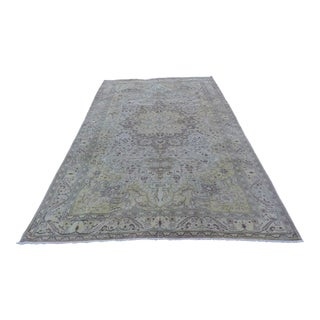 Vintage Turkish Oushak Large Area Rug 6′5″ × 9′10″ For Sale
