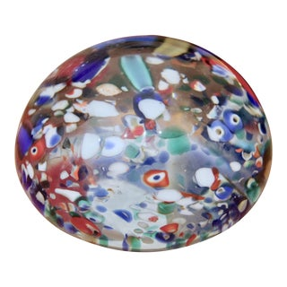 1960s Italian Murano Glass Millefiori Paperweight For Sale