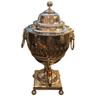 19th Century English Silver Plate Tea Urn