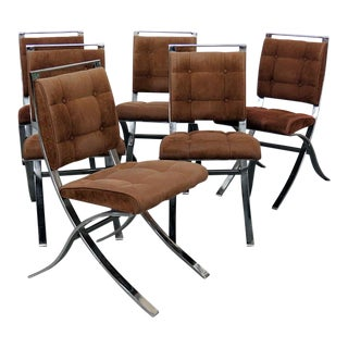 Sampton Mid-Century Modern Side Chairs - Set of 6 For Sale