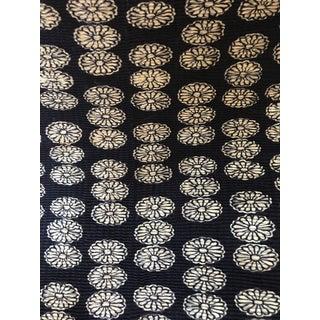 Vintage Chinese Indigo Blue White Flower Fabric - 7 Yards For Sale