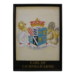 English Pub Sign, Earl of Lichfield Arms For Sale