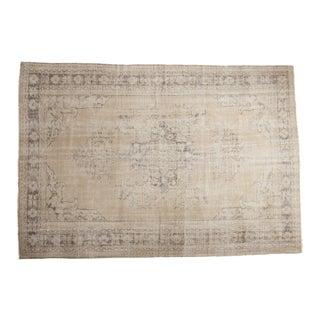 "Vintage Distressed Oushak Carpet - 7'4"" x 10'7"""