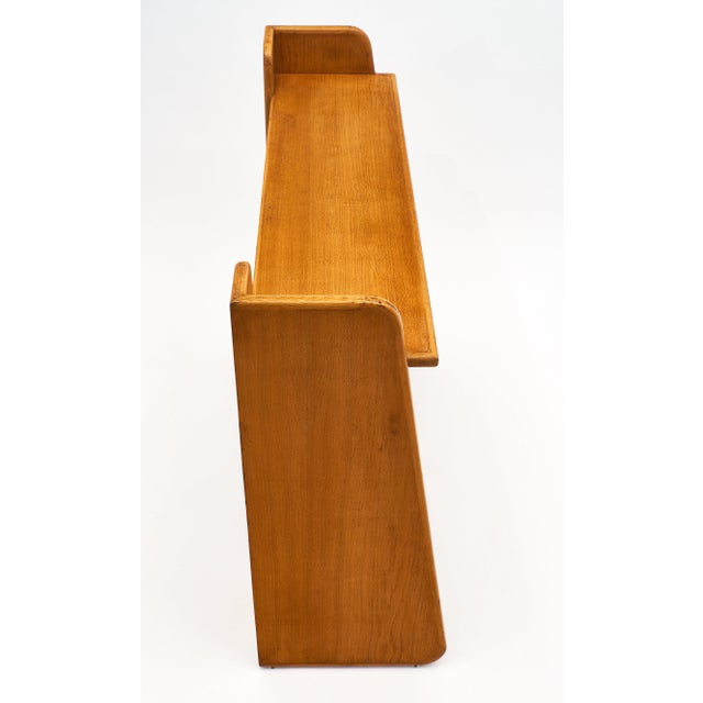 1940s French Modernist Oak Console For Sale - Image 5 of 10