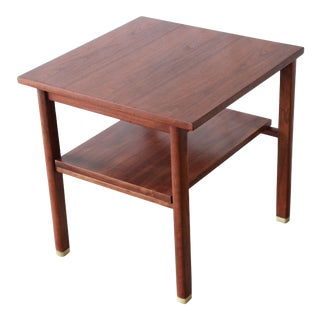 Edward Wormley for Dunbar Walnut Side Table For Sale