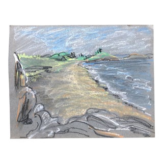 Impressionist Coastal Scene by Eleanore Stevens 1930s For Sale