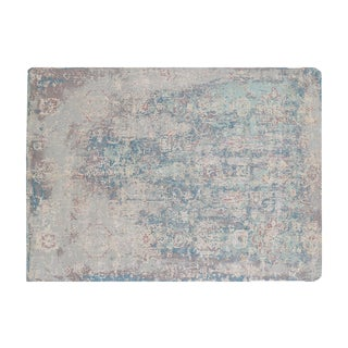 Hand-Knotted Modern Rug Wool and Bamboo Silk- 8′ × 10′ For Sale