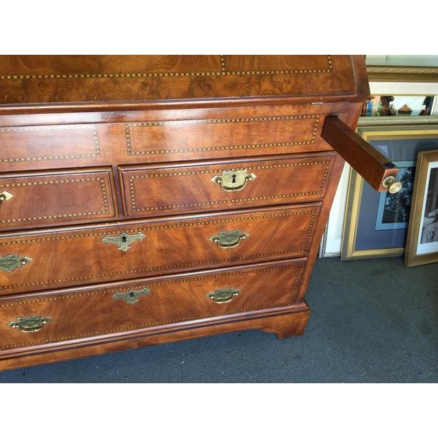 1990s Biltmore Estates Drexel Drop Front Desk For Sale - Image 5 of 13