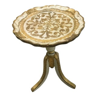 19th Century Italian Florentine Gold Side Table
