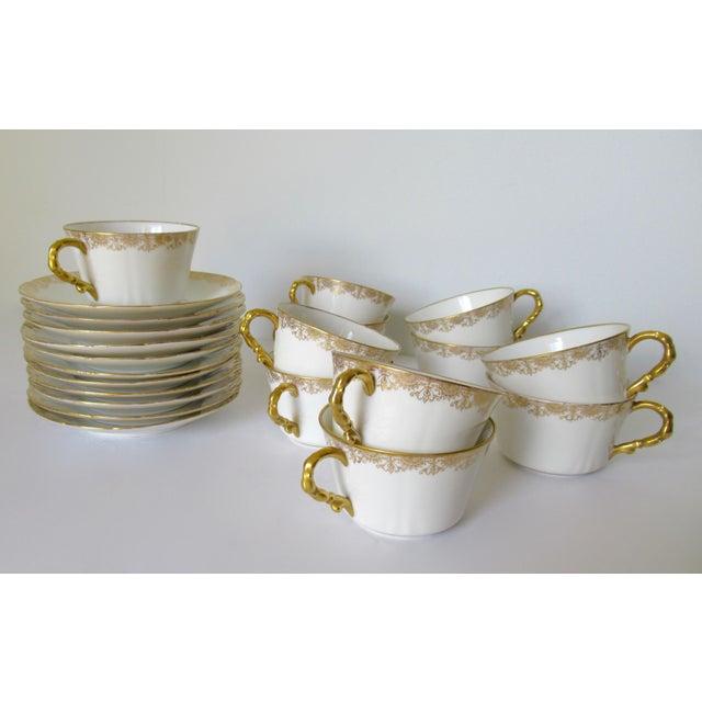 Ceramic Vintage BMdeM, L. Strauss & Sons for Limoges Gilt Medallion Dinnerware - 60 Pieces For Sale - Image 7 of 13