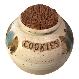 Handmade Signed Cookie Pottery Jar