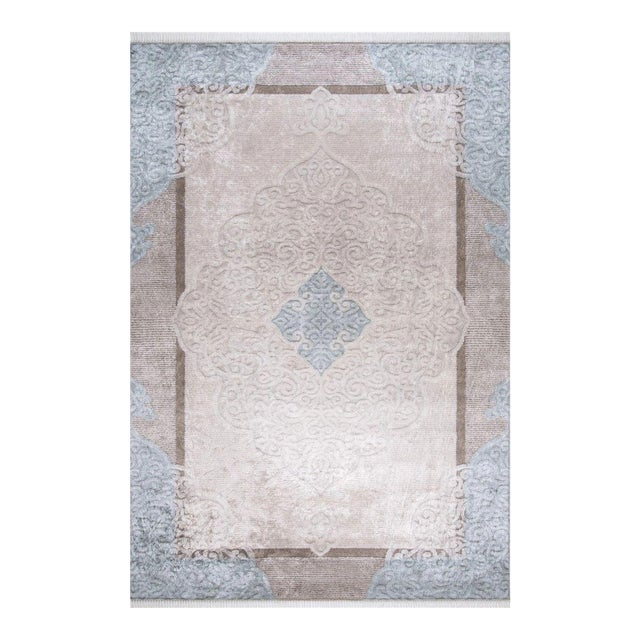 Traditional Oushak Pattern Inspired Area Rug - 5′1″ X 7′7″ For Sale