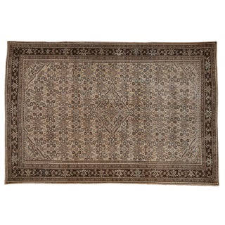 """Vintage Distressed Malayer Carpet - 6'8"""" X 10'1"""" For Sale"""