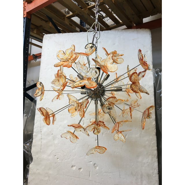 Murano Glass Butterfly Sputnik Chandelier For Sale - Image 10 of 12