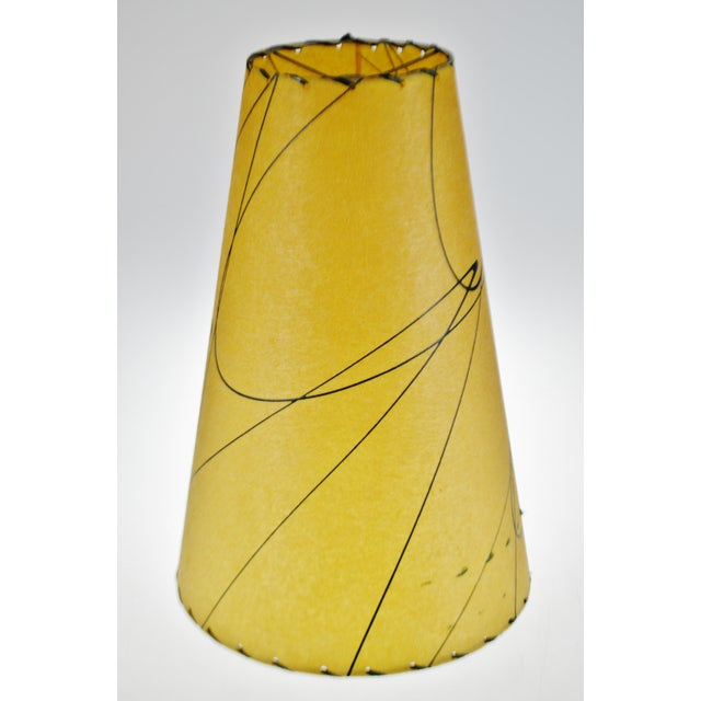 Mid Century Fiberglass Atomic Style Lamp Shade For Sale - Image 4 of 13