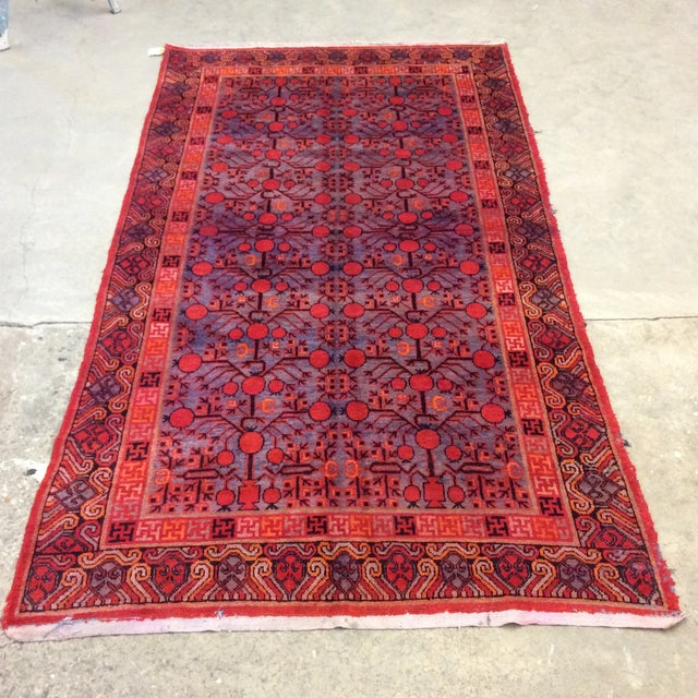 "Antique Chinese Khotan - 5'6""x 10'3"" For Sale - Image 13 of 13"