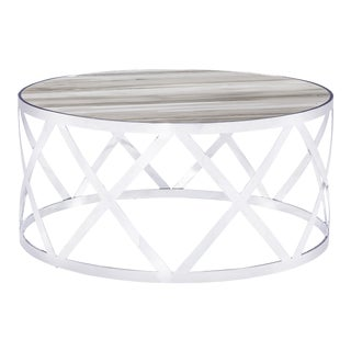 Blink Home White Cocktail Table For Sale