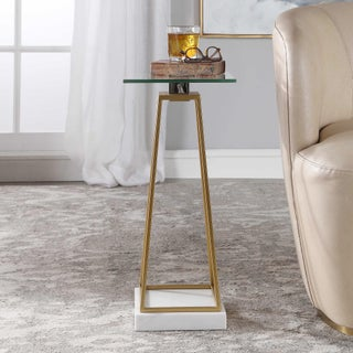 Modern Style Glass and Marble Drink Table Preview
