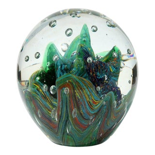 Vintage Mid-Century Murano Glass Paperweight For Sale