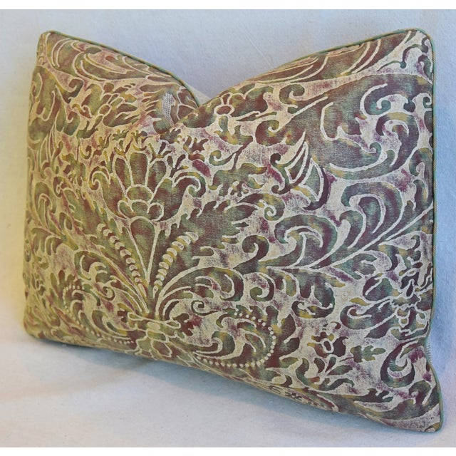 """Early 21st Century Italian Mariano Fortuny Caravaggio Feather/Down Pillow 22"""" X 16"""" For Sale - Image 5 of 8"""