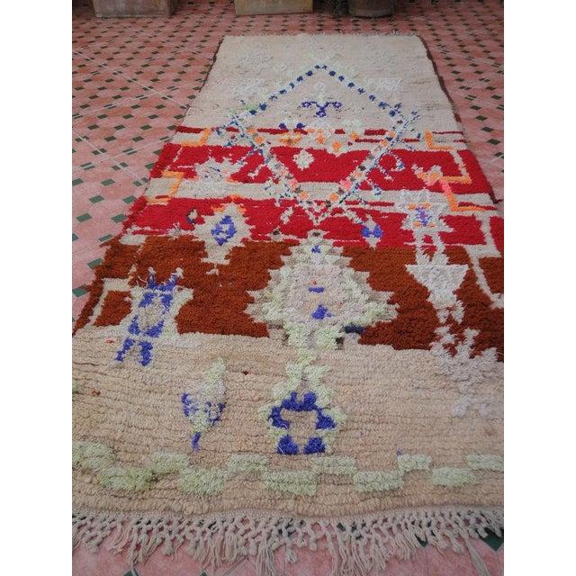Vintage Moroccan Berber, Azilal Rug - 2′9″ × 7′ - Image 3 of 6
