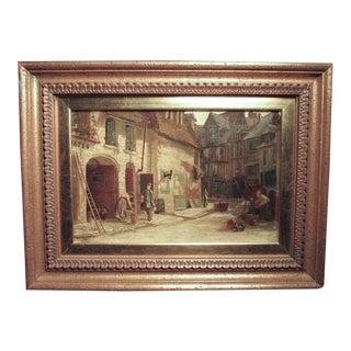 Late 19th Century Antique Ellen Grace Parker British Genre Scene Oil Painting For Sale