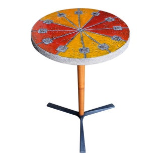 1950s Bitossi for Raymor Ceramic Side Table For Sale