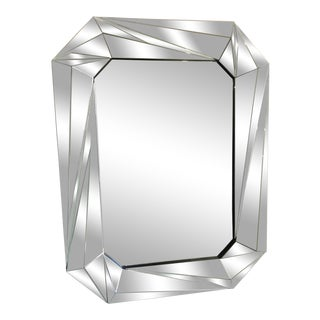 Modern Faceted Wall Mirror For Sale