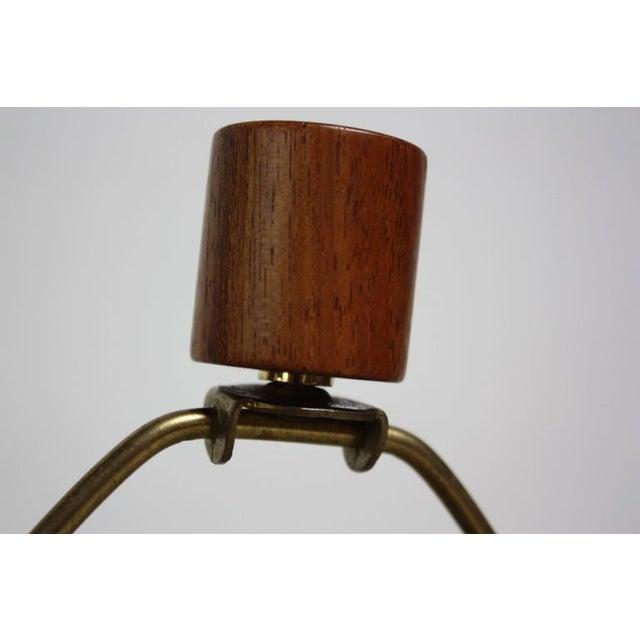 Mid-Century Modern 1960s Martz for Marshall Studios Earth Tone Swirl Ceramic Lamp For Sale - Image 3 of 7